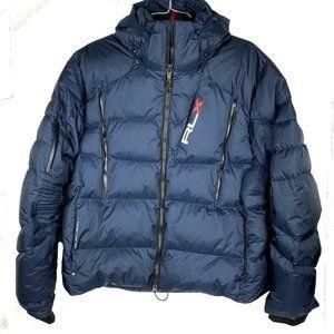 Ralph Lauren RLX Down Puffer Jacket Hood Blue XXL